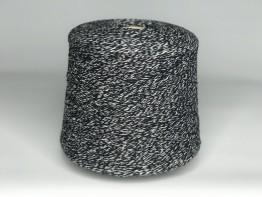 100% меринос Supergeelong Zegna Baruffa черно-белый меланж