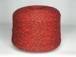 100% меринос Supergeelong Zegna Baruffa черно-красный меланж