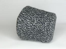 100% кашемир Filpucci, 150м/100 грамм, черно-белый меланж