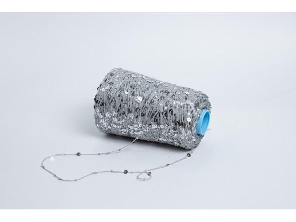 Хлопок 100% с пайетками SHINE SLR Арт. SHINE серебро