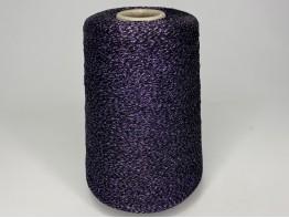 Вискоза 78%, ацетат 12%, люрекс 10% Art. STRASS черный с фиолетовым люрексом