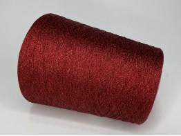 Вискоза 78%, ацетат 12%, люрекс 10% Art. STRASS красный с красным люрексом