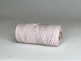Макраме 3 мм шнур 100% хлопок пудровый