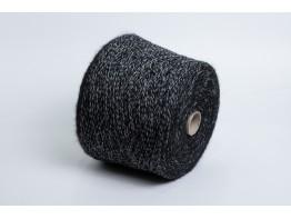 Кид-мохер Millefifi WENDY 430м/100 грамм черно-белый меланж