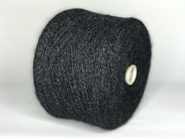 Кид-мохер Millefifi WENDY2 430м/100 грамм черно-графитовый меланж
